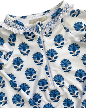 Load image into Gallery viewer, India Amory x Smockingbird Smocked Swimsuit in Cornflower Blue