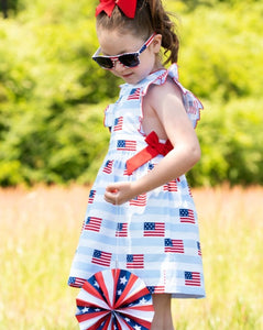 American Flag Blue Striped Dress