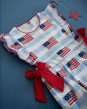 Load image into Gallery viewer, American Flag Blue Striped Dress