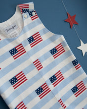 Load image into Gallery viewer, American Flag Blue Striped Shortall