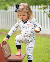 Load image into Gallery viewer, Fall Apple Picking Zip Up Pajamas