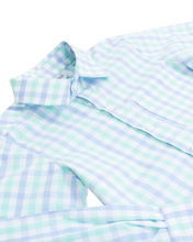 Load image into Gallery viewer, Baby Blue and Mint Check Button Down Shirt