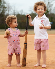 Load image into Gallery viewer, Baseball Embroidered Shorts Set