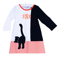 Black Cat Applique Dress