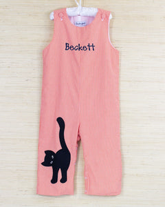 Black Cat Applique Longall