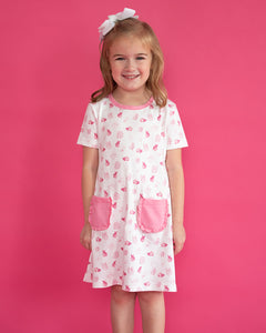 Bunny Toile Pima Cotton Dress