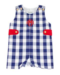Classic Navy and Red Check Shortall