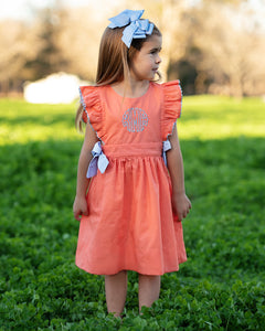Coral and Baby Blue Dress