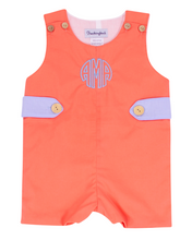 Load image into Gallery viewer, Coral and Baby Blue Shortall