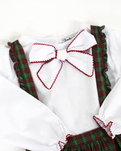 Load image into Gallery viewer, Crawford Plaid Jumper With White Bow Blouse
