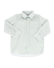 Load image into Gallery viewer, Green Striped Button Down Shirt