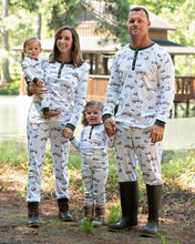 Load image into Gallery viewer, Duck Duck Woody Pima Cotton Zip Up Pajamas