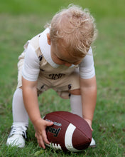 Load image into Gallery viewer, Football Embroidered Khaki Shortall