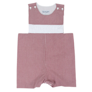 Personalized Garnet Gingham Shortall