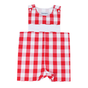 Personalized Red Buffalo Check Shortall
