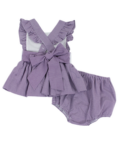 Personalized Penny Purple Gingham Bloomer Set