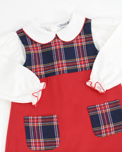 Load image into Gallery viewer, Hamilton Plaid Pocket Dress With White Knit Blouse