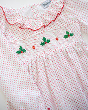 Load image into Gallery viewer, Hollyberries Smocked Polka Dot Knit Dress