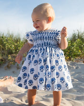 Load image into Gallery viewer, India Amory x Smockingbird Dress in Cornflower Blue