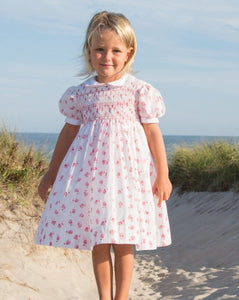 India Amory x Smockingbird Dress in Hibiscus Pink