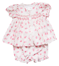 Load image into Gallery viewer, India Amory x Smockingbird Bloomer Set in Hibiscus Pink