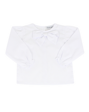 Load image into Gallery viewer, Bow Blouse in White with Long Sleeves