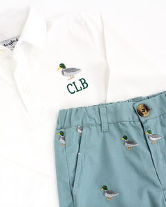 Mallard Duck Embroidered Pants Set