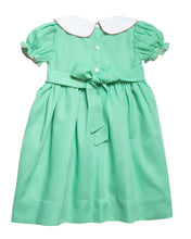 Load image into Gallery viewer, Mint Green Rosette Smocked Bishop Dress