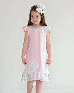 Bunny Tails Applique Knit Dress