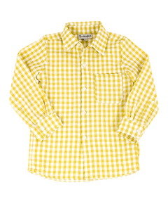 Mustard Check Collared Shirt