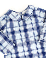 Load image into Gallery viewer, Navy and Blue Plaid Collins Shortall