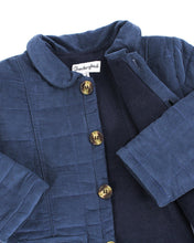 Load image into Gallery viewer, Navy Quilted Corduroy Coat