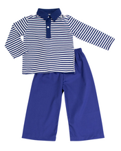 Load image into Gallery viewer, Navy Striped Pants Set
