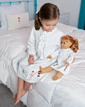 Load image into Gallery viewer, Nutcracker Embroidered Knit Nightgown For Doll