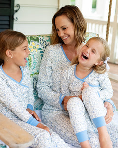Periwinkle Petals Pima Cotton Ladies Pajama Set