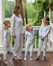 Load image into Gallery viewer, Periwinkle Petals Pima Cotton Zip Up Pajamas
