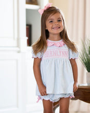 Load image into Gallery viewer, Mint Dot Knit Personalized Bloomer Set