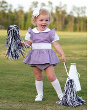 Load image into Gallery viewer, Personalized Penny Purple Gingham Bloomer Set