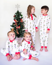 Load image into Gallery viewer, Holiday Pima Cotton Girls Zip Up Pajamas