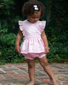 Pink Penny Bloomer Set