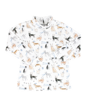 Load image into Gallery viewer, Polar Pups Blue Pima Cotton Turtleneck