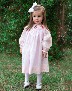 Princess Smocked Pretty In Pink Dress