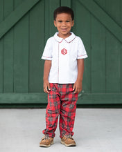 Load image into Gallery viewer, Red Tartan Plaid James Pants Set