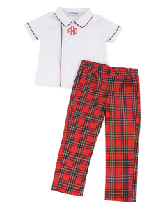 Red Tartan Plaid James Pants Set
