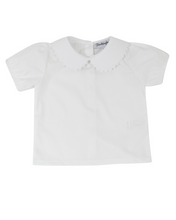 Load image into Gallery viewer, Girls Peter Pan Collar Short Sleeve Shirt