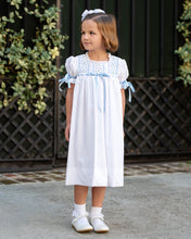 Load image into Gallery viewer, White Smocked Everly Dress