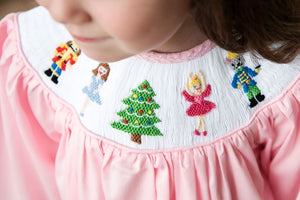 Nutcracker Smocked Pink Dress