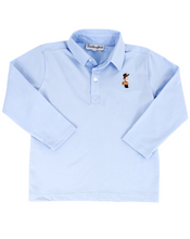 Load image into Gallery viewer, Thanksgiving Embroidered Long Sleeve Polo Shirt