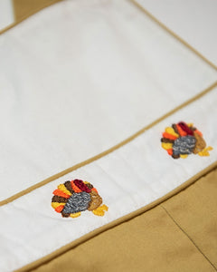 Turkeys Embroidered Khaki Longall