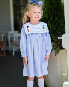 Thanksgiving Embroidered Dress